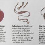 Münchner Merkur (Aug. 2010): Brezenanhänger Neemas Luxury
