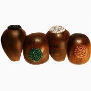 Woodrock, Farben Jet, Emerald, Crystal, Smoked Topaz