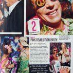 Seitenblicke (Dez. 2008): Gitta Saxx mit Armreif – Pink Revolution Party in Wien